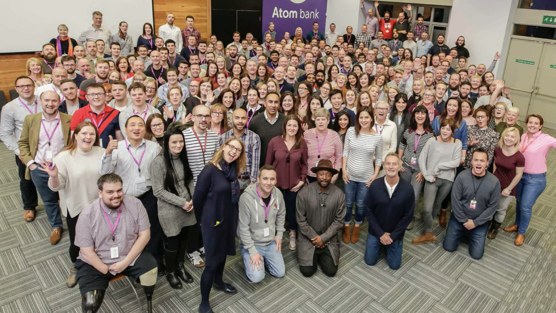 Atom Bank group photo